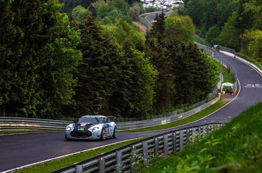 Aston Martin at the 2012 Nurburgring 24 hour race
