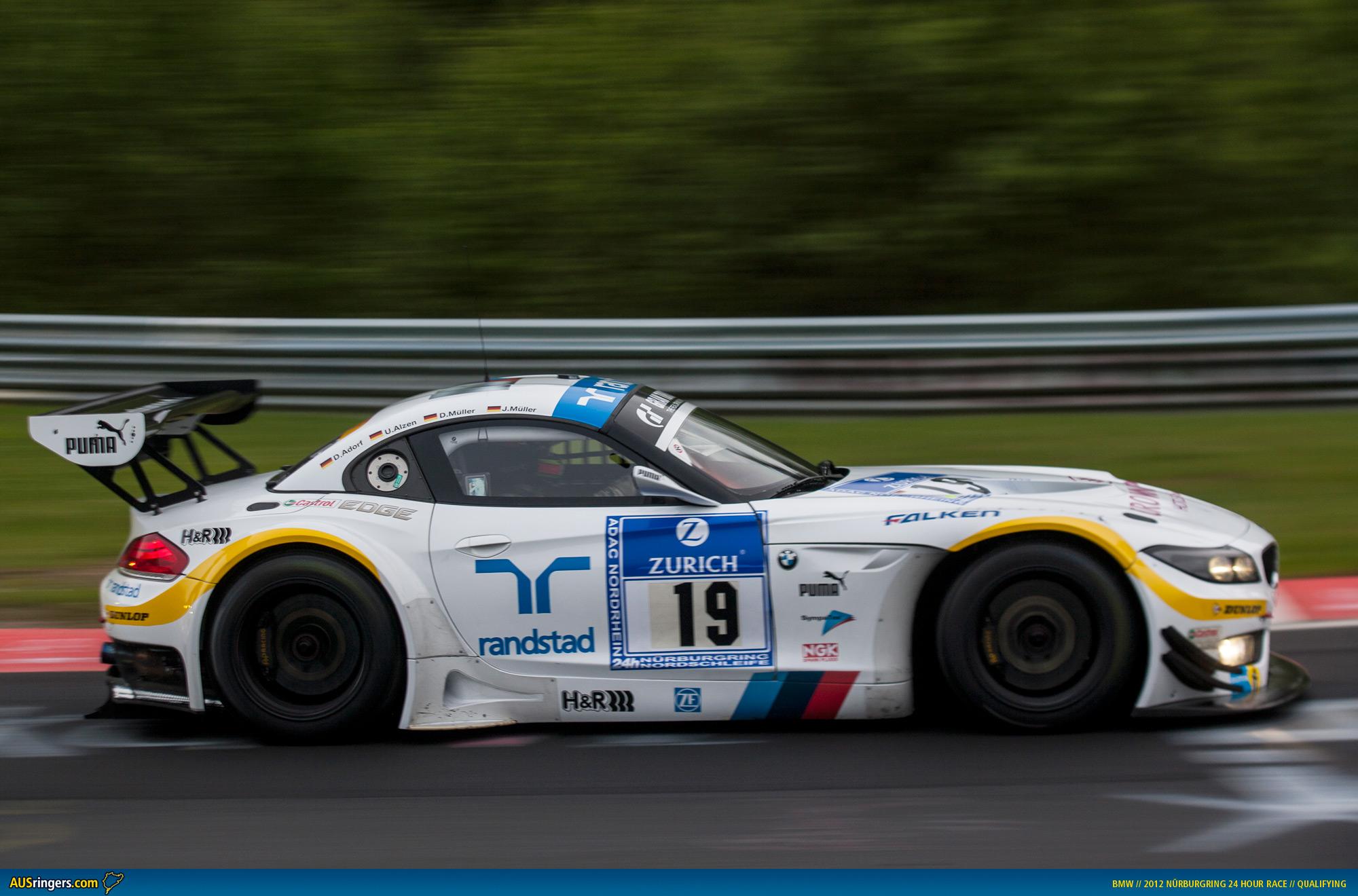 Ausringers Com 187 2012 N24h Bmw Z4 Gt3 Claims Pole Position