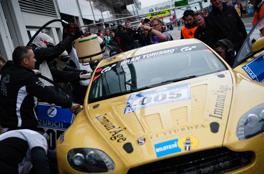 Aston Martin at the 2013 Nurburgring 24 hour race