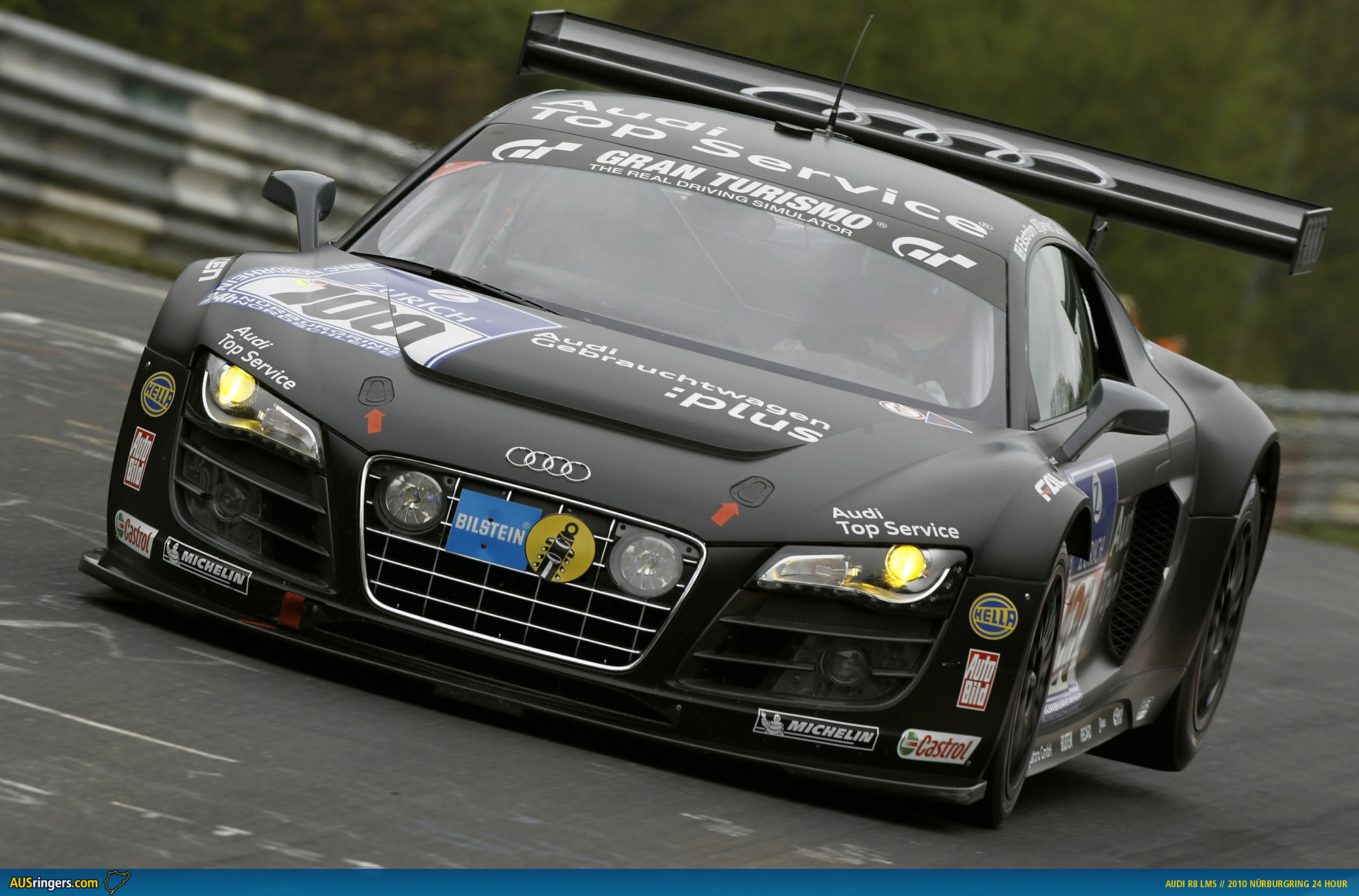 Audi r8 lms to start n24 from pole after dominant qualifying