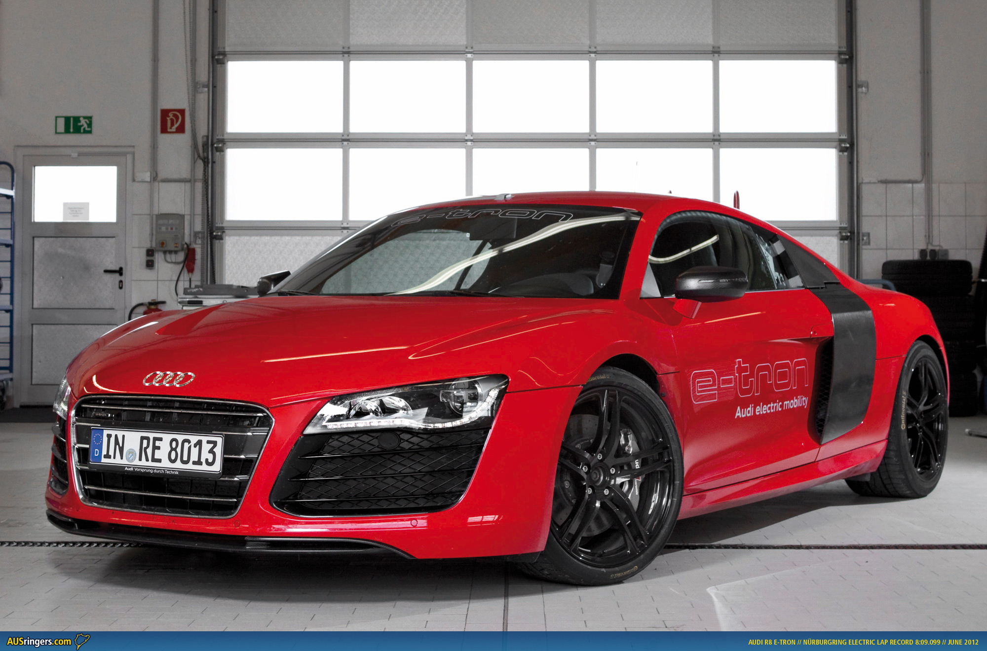 audi r8 e tron sets n rburgring electric record. Black Bedroom Furniture Sets. Home Design Ideas