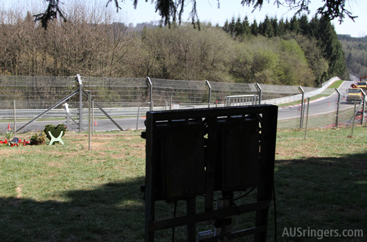 Looking over Quiddelbacher Hohe to Flugplatz accident site, April 2015