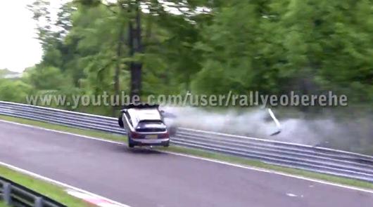 Honda Civic crash at Fuchsrohre