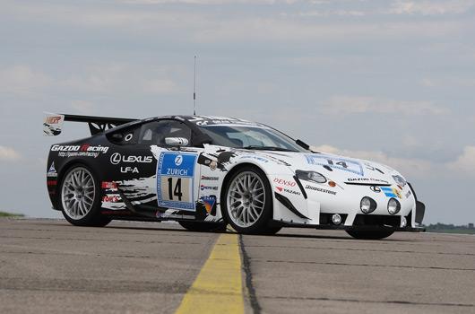 Lexus LF-A at Nurburgring 24 hour race