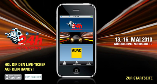 AUSringers com » Official 2010 Nürburgring 24 hour iPhone app