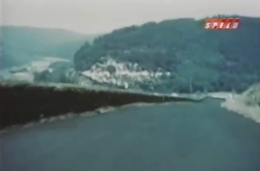 Geoff Duke drives the Nurburgring in 1955
