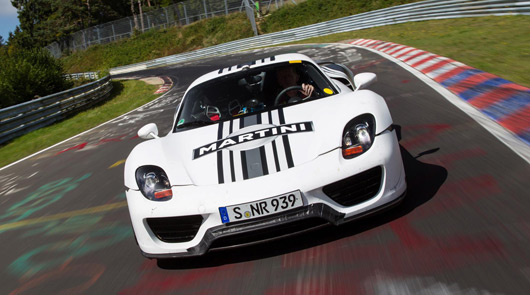 Porsche 918 Spyder on the Nurburgring