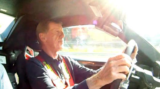 Walter Rohrl driving the Porsche 918 Spyder