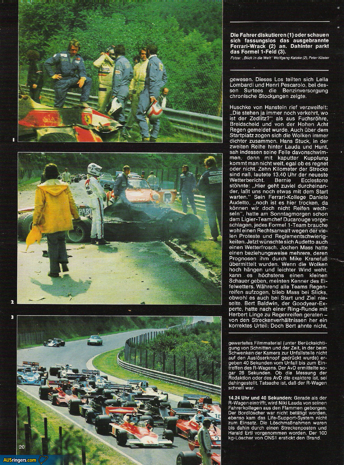 Niki Lauda Unfall 1976