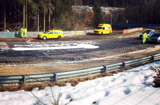 Offensive Nurburgring graffiti closes track
