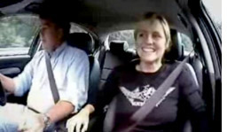 Sabine Schmitz and Jeremy Clarkson