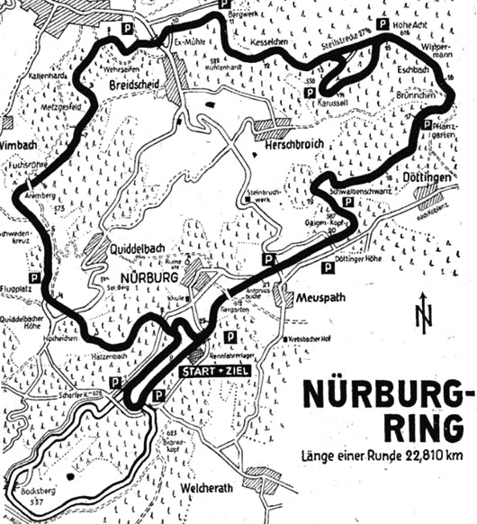 Vintage Nurburgring map